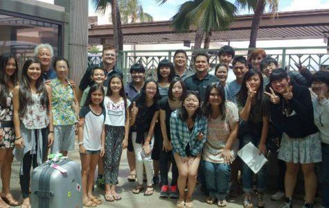 East meets west; seven Fuchu High students visit MHS