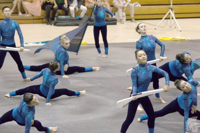 Indoor Winds, Winter Line, Winter Guards Perform shows at Springfest