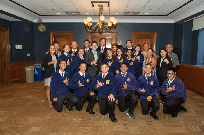 (Photo courtesy of adviser Monica Yamaguchi) Students were not only limited to leadership activities. They also traveled to places like the White House and met many congressman as well.