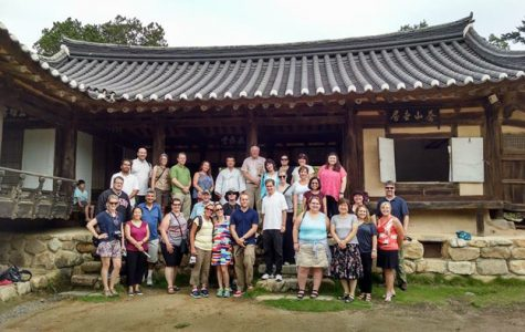 (Photo courtesy of Social Studies teacher Amy Boehning) Boehning and her fellow teachers visited a Korean traditional village as a part of a two week journey to immerse the visitors in Korean government and culture, sponsored by the Foreign Policy Research Institute.