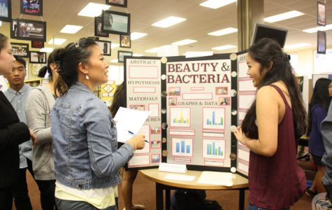 Investigating the variables of success, students participate in MHS Science Fair