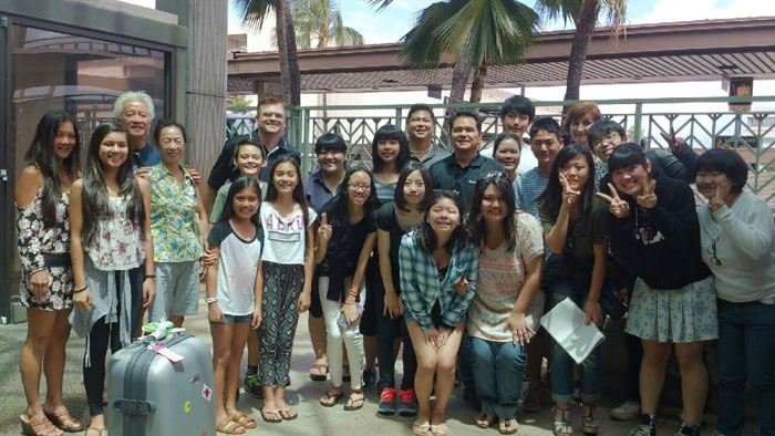 (Photo courtesy of Ivy Ogawa) Coming from Hiroshima, Japan, seven students from Fuchu High School arrived in Hawaii to tour MHS with their guides, living the life of a Mililani student and learning about the people, culture and lifestyle of Hawaii.