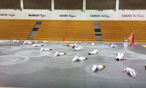 Indoor Drumline and Winter Guard take first at Hawaii Invitational