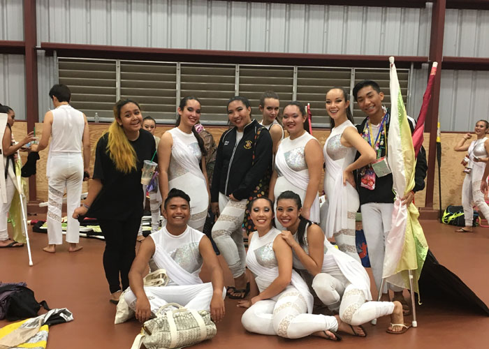 Winter+Guard+represents+Mililani+at+Springfest+with+%22Redemption%22