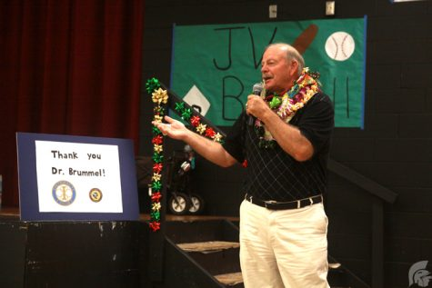 (Katie Hashimoto | Trojan Times) Brummel's move to Complex Area Superintendent was not a surprise with 26 years as a teacher and principal in Missouri before coming to Hawaii.