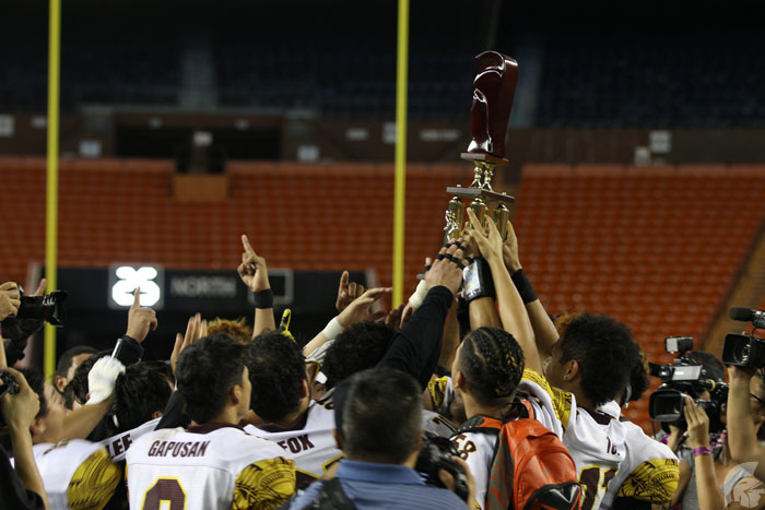 (Timothy Won | Trojan Times) The bond that the team has and the trophy that they won will always remind them of their hard work and well-deserved achievements.