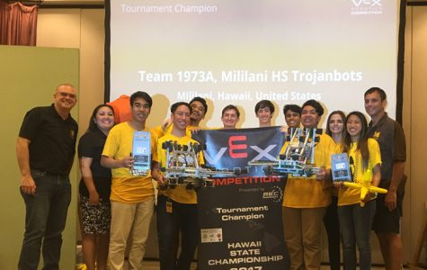 Trojanbots Take Home Both Title, Innovation Award at VEX Robotics State Championship
