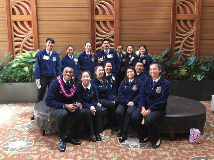(Photo courtesy of Sierra Grucella (11)) After competing at the district competition, many FFA members were able to qualify for the state convention held at Kauai Community College.