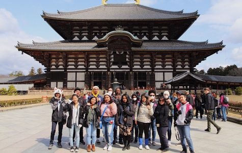 (Photo courtesy of Isaiah Lopez (12)) Students were able to indulge in traditional Japanese architecture, including that of the Great Buddha Temple in the prefecture of Nara.
