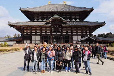 East meets west; seven Fuchu High students visit MHS