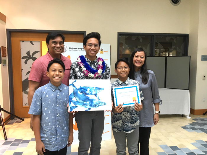 "(Photo courtesy of Spencer Ilagan (12)) The competition accepted artwork from elementary, middle and high school students in separate devisions following the theme ""Under the Sea."""