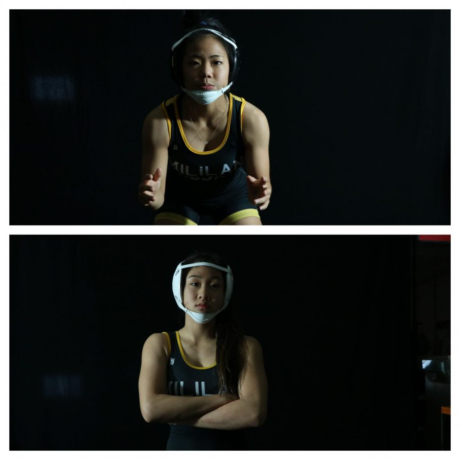 Girls Wrestling State Championship: Hikiji and Lee Pin The Comptetition