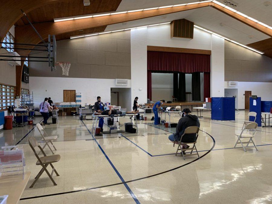 Blood donors at the Mililani Latter-Day Saint Church. (Photo Courtesy: Stephanie Grande-Misaki)