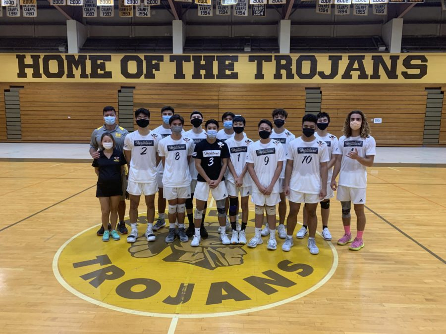 The MHS Varsity Boys Volleball Team. (Photo Courtesy: Janet Ward-Riehle)